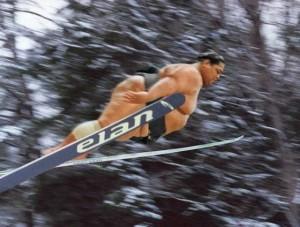 Sumo Wrestler Ski Jumping