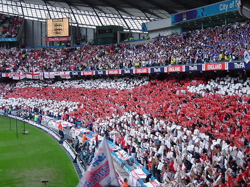 England Fans at Manchester City Stadium