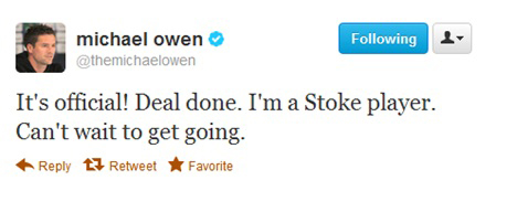 Michael Owen Tweet