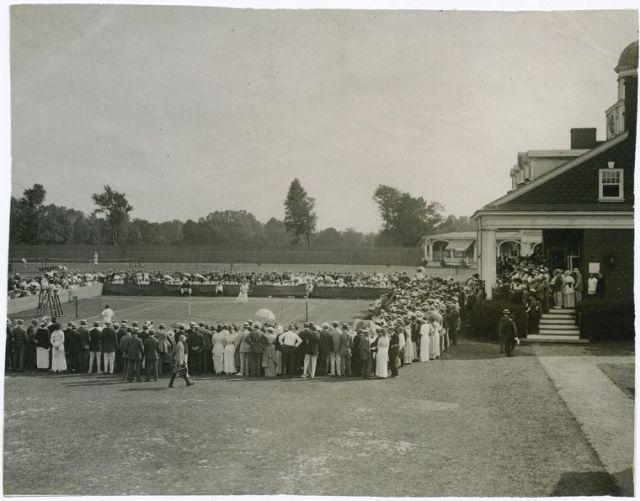National Women's Tennis Tournament at the Philadelphia Cricket Club. Photo: circa 1910-20.