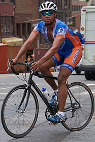 Biker wearing Spandex