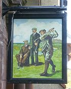 Pub sign of the Golf Tavern, Edinburgh