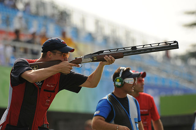 Walton Eller at 2008 Summer_Olympics double trap finals