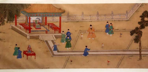 Ming Emperor Xuande Playing Chuiwan