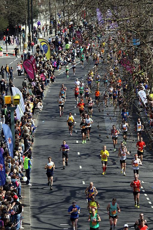 London Marathon at Victoria Embankment