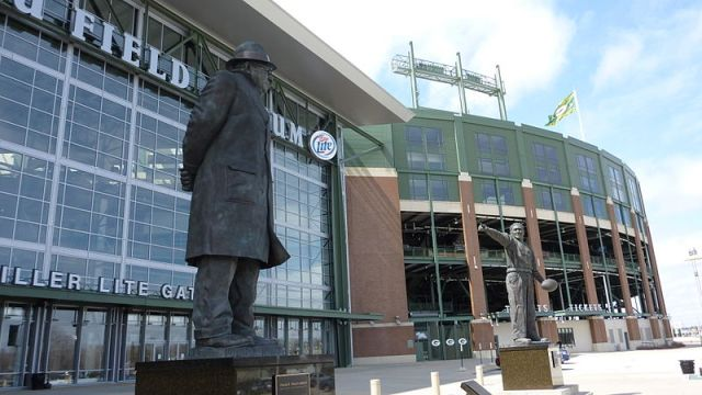 Statues at Lambeau Field