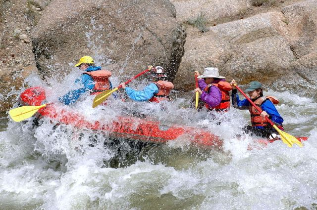 Rafting on the Arkansas River, Colorado, USA