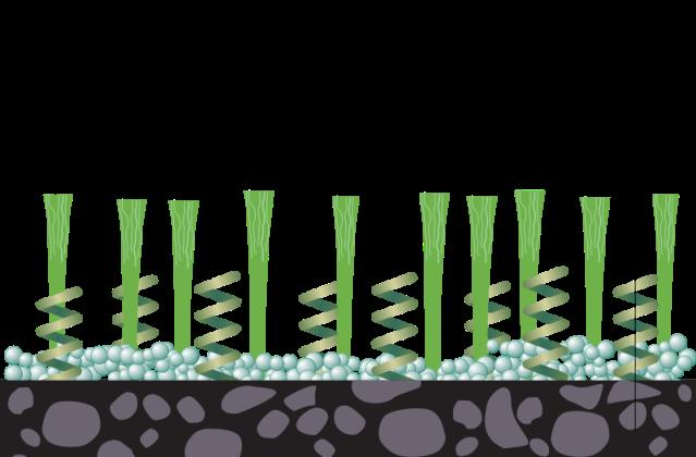 Diagram of modern artificial grass.