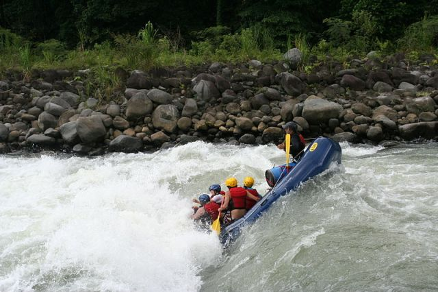 Rafting on the Pacuare River, Costa Rica.
