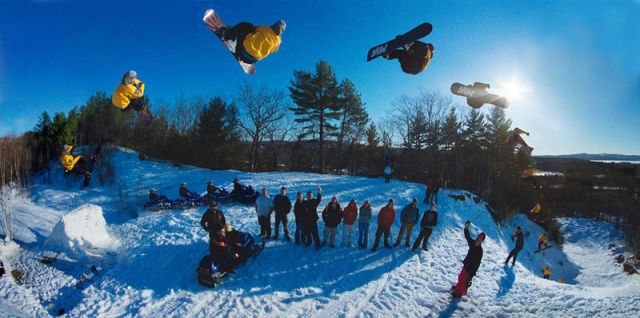 Snowboarding Tow-In