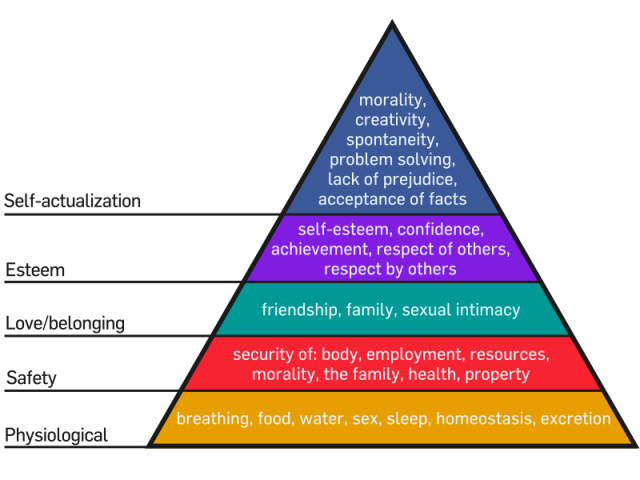 Maslow's Hierarchy of Ne