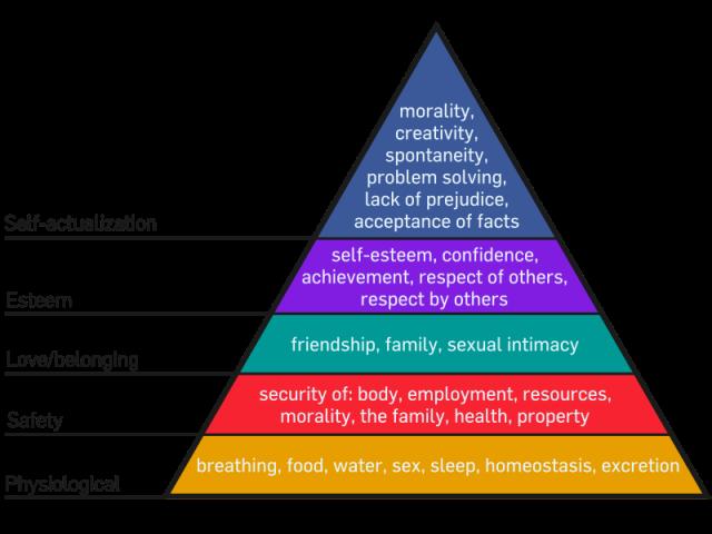 Maslow's Hierarchy of Ne