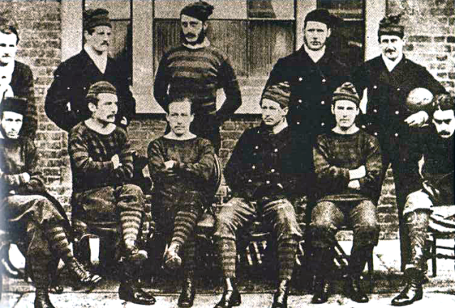 The Royal Engineers team who reached the first FA Cup final in 1872