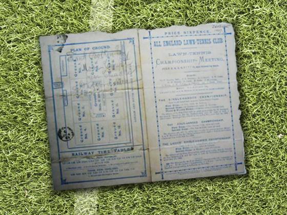 1887 Wimbledon Program