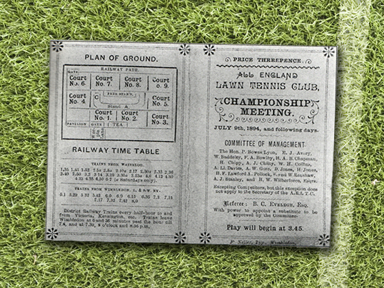 1894 Wimbledon Program