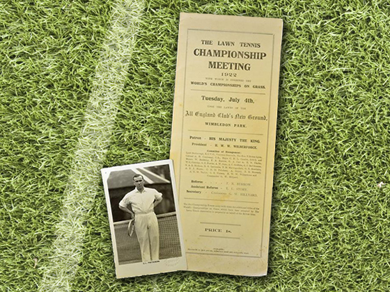 1922 Wimbledon Program