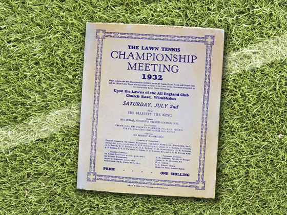1932 Wimbledon Program