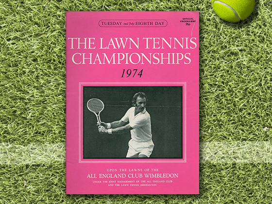 1974 Wimbledon Program