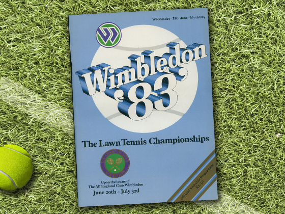1983 Wimbledon Program