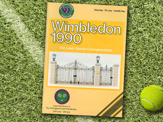 1990 Wimbledon Program