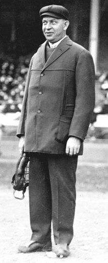 Bill Klem, the father of baseball umpires, in 1914