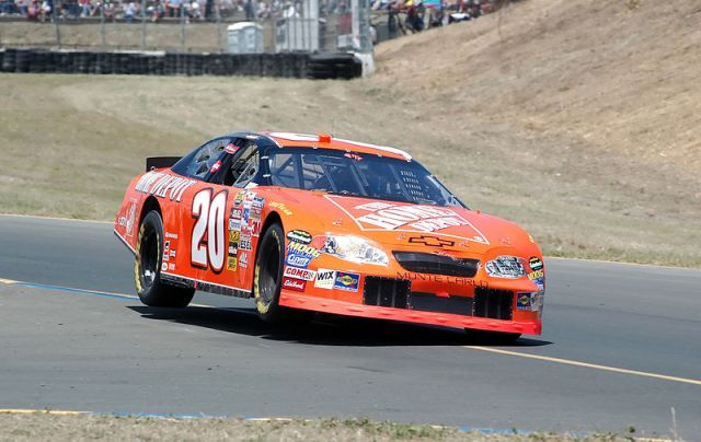 3-Time Sprint Cup Champion Tony Stewart on two wheels in 2005 at Infineon Raceway