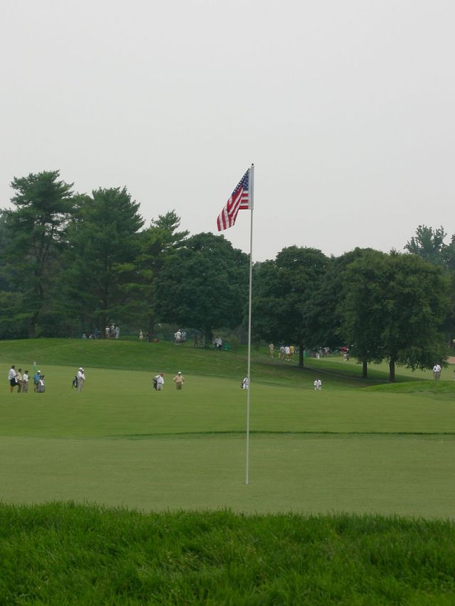 The golf course at the Congressional Country Club in the US state of Maryland