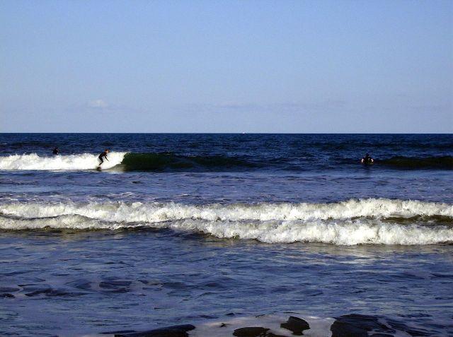 Surfing off Cocoa Beach, Fl.
