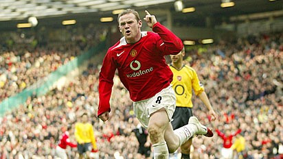 The Sports Archives Blog - The Sports Archives - Wayne Rooney gets thumbs up After a 4-0 Win Against Club Brugge!