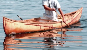 Birchbark canoe