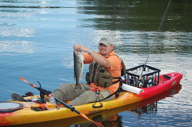 kayak fishing on bear creek lake
